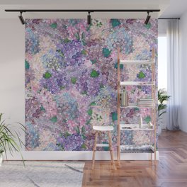 Purple and blue Lilac & Hydrangea - Flower Design Wall Mural