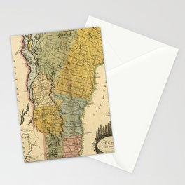 Vintage Map of Vermont (1814) Stationery Cards
