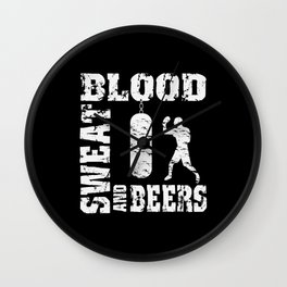 Boxing Blood Sweat And Beer For Boxers Wall Clock