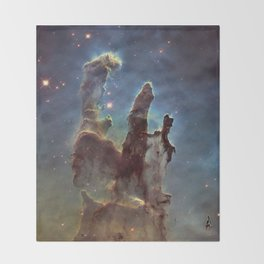 The Pillars of Creation Throw Blanket