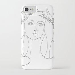 Picasso Line Art - Woman's Head iPhone Case
