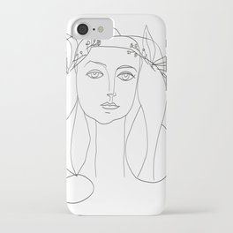 Picasso Line Art - Woman's Head iPhone Case