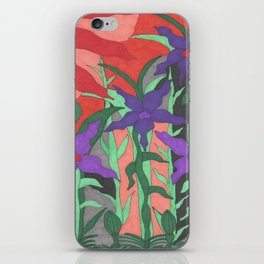 Twilight Sun Garden Floral Art iPhone Skin