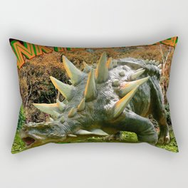 Ankylosaurus Dinosaur Park Vegetation and  Volcano Rectangular Pillow