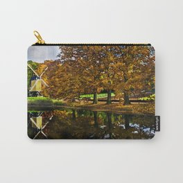 Autumn landscape with a windmill and pond in the Netherlands  Carry-All Pouch
