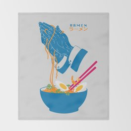 Delicious Daily Ramen Throw Blanket