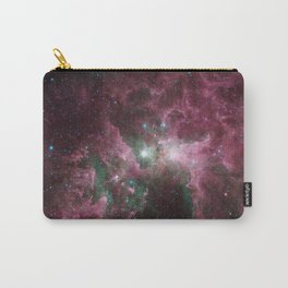 Abstract Purple Space Image Carry-All Pouch