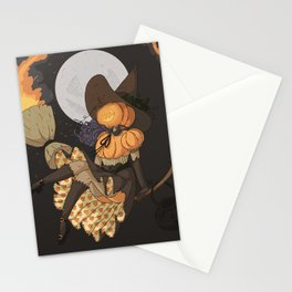 Pumpkin Witch Stationery Cards