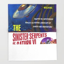 """""""The Sinister Serpents of Saturn VI"""" Movie Poster Throw Blanket"""
