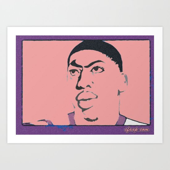 Anthony Davis Nike Swoosh Unibrow Red Art Print