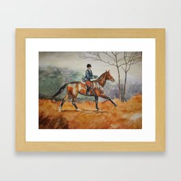Fall Rider Framed Art Print