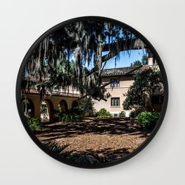 Residence Hall Courtyard Rollins College Winter Park Central Florida Orlando Wall Clock