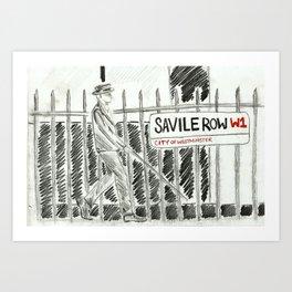 Savile Row Art Print