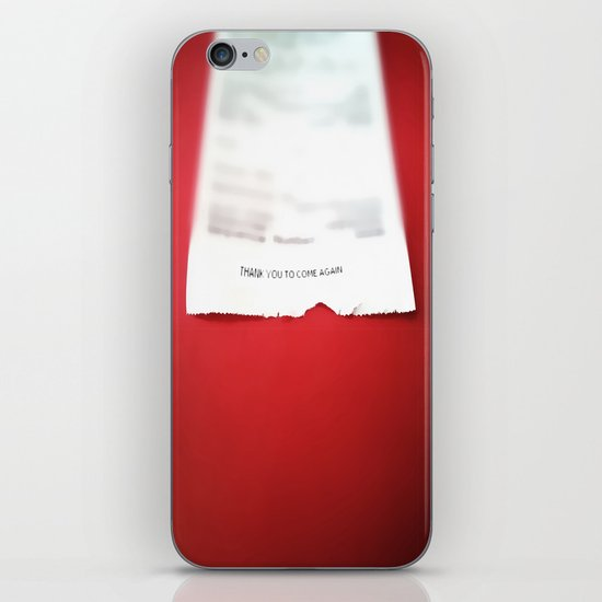 Thank you to come again iPhone & iPod Skin