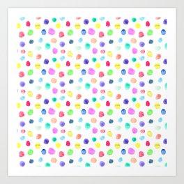 Watercolor confetti Art Print