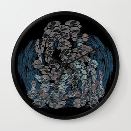 Elegant Stone Whirlwind Earth Elements Abstract Wall Clock