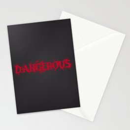 Dangerous Bloody Black Background Stationery Cards