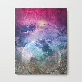 MOON under MAGIC SKY I Metal Print