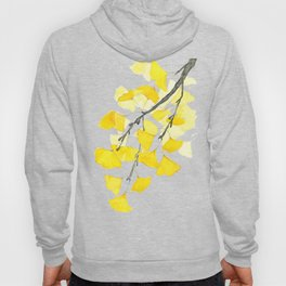 Golden Ginkgo Leaves Hoody