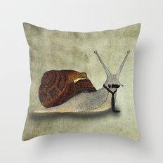 The snail. Throw Pillow