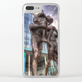 Rugby League Legends statue Wembley stadium Clear iPhone Case