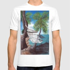Relaxation White Mens Fitted Tee MEDIUM
