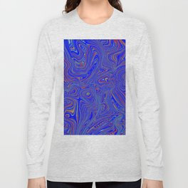 Blue Oil spill Long Sleeve T-shirt