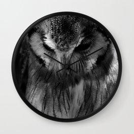 Owl B&W Wall Clock