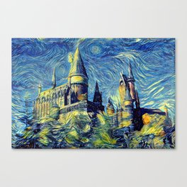 Hogwarts Starry Night Canvas Print