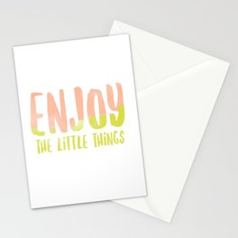 Enjoy the Little Things Water Color Stationery Cards