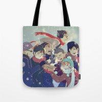 haikyuu Tote Bags featuring Haikyuu!! by x3uu