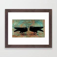 Odin's Ravens Huginn and Muninn Framed Art Print