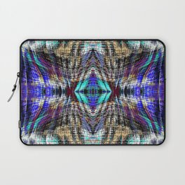geometric symmetry pattern abstract background in blue brown pink Laptop Sleeve
