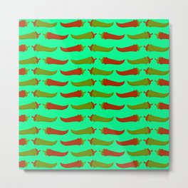 Feed Me- Taco Pattern Metal Print