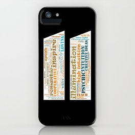 Life Path 11 (black background) iPhone Case