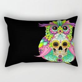 Sugar Skull Owl Rectangular Pillow