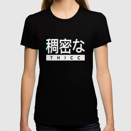 Aesthetic Japanese THICC Logo T-shirt