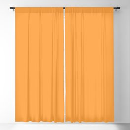 From Crayon Box – Neon Orange - Carrot Orange Solid Color Blackout Curtain