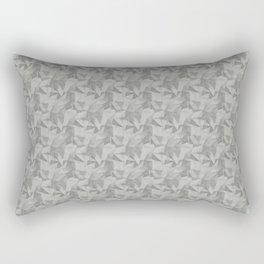 Abstract Geometrical Triangle Patterns 2 Benjamin Moore Metropolitan Gray AF-690 Rectangular Pillow