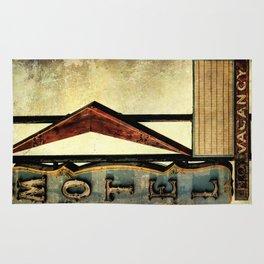 Vintage Arrow Motel Sign Rug