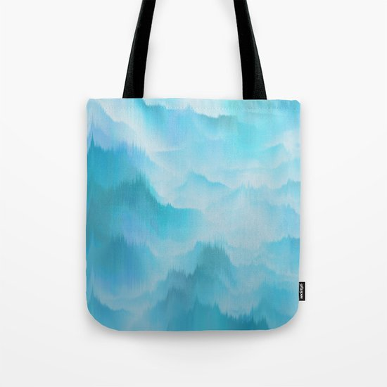 Clouds and mountains. Abstract. Tote Bag