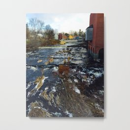 Winter's River Metal Print
