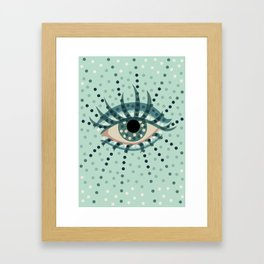 Dots And Abstract Eye Framed Art Print