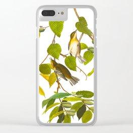 Autumnal Warbler Bird Clear iPhone Case
