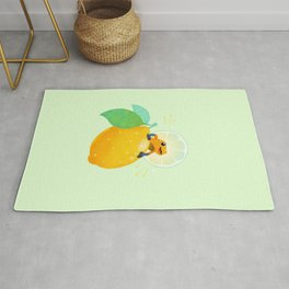 Golden poison lemon sherbet 1 Rug