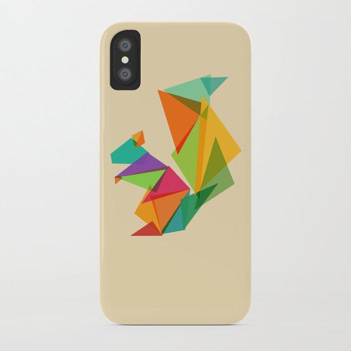 Fractal geometric Squirrel iPhone Case