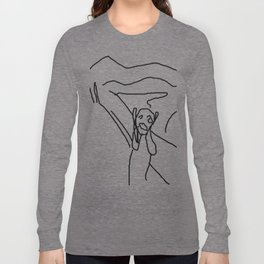 the scream by munch: low effort recreation in ms paint Long Sleeve T-shirt