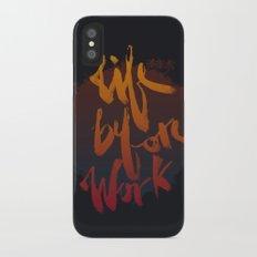 Life Before Work iPhone X Slim Case
