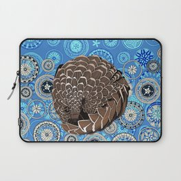 pangolin mandala blue Laptop Sleeve