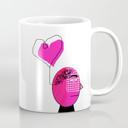 Black and Pink Man with Love on the Mind Coffee Mug